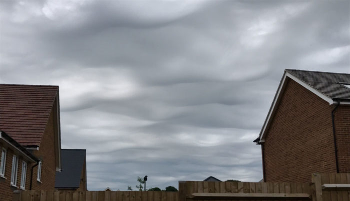 An asperitas formation over Andover, Hampshire UK.