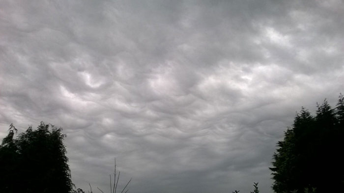 An asperitas formation over the Valleys, Maesteg, Wales, UK.