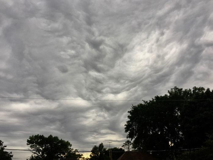 An asperitas formation over Milwaukee, WIsconsin, US.