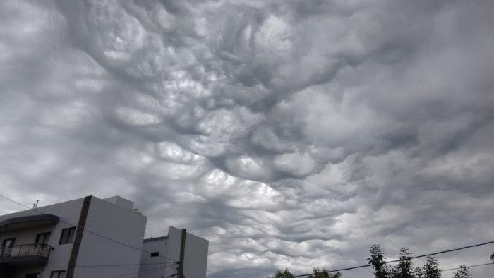 An asperitas, lacunosus mix over Colon, Entre Rios, Argentina.