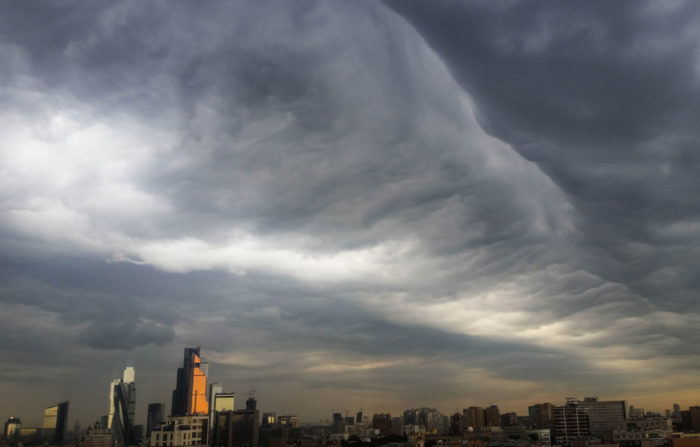 An asperitas formation over Moscow.