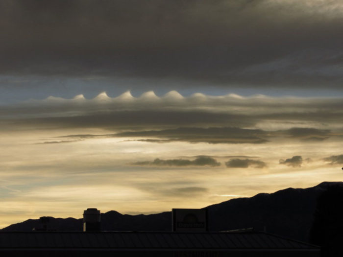 A sunrise with a Kelvin-Helmholtz wave formation over Sothern Colorado, US.