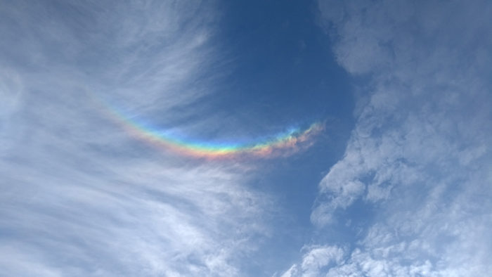 A circumzenithal arc within a fallstreak hole over Winchester, Hampshire, UK.