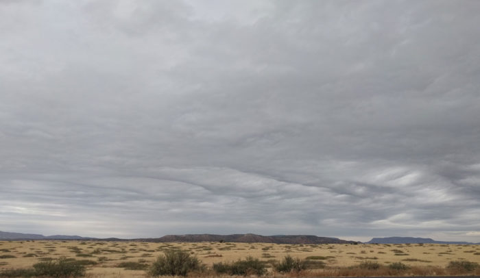 An asperitas formation over Sedona, Arizona, US.