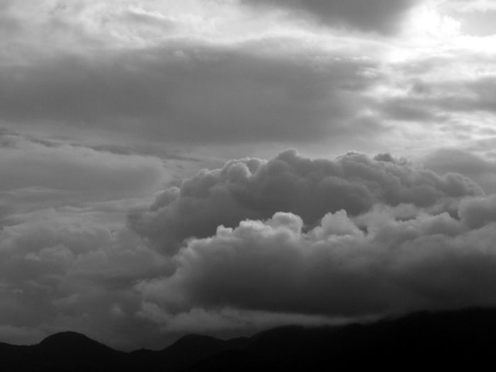 A study in shades of grey over Florianopolis, Santa Catarina, Brazil.