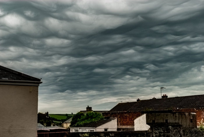 An asperitas formation over St Austell, Cornwall, UK.