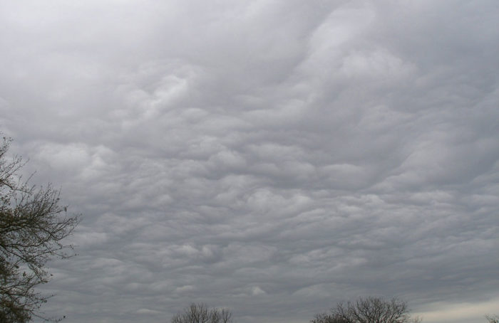 A turbulent cold front creating asperitas over Austin, Texas, US.