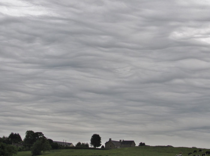 An asperitas formation over Frome, UK.