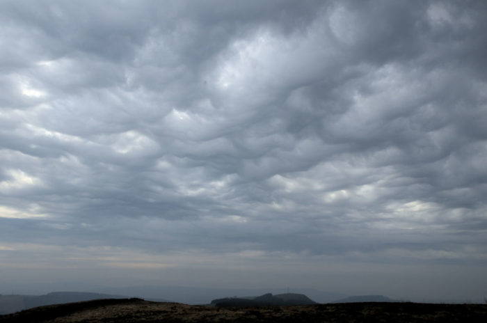 An asperitas formation over Mountain Ash, Mid Glamorgan, Wales.