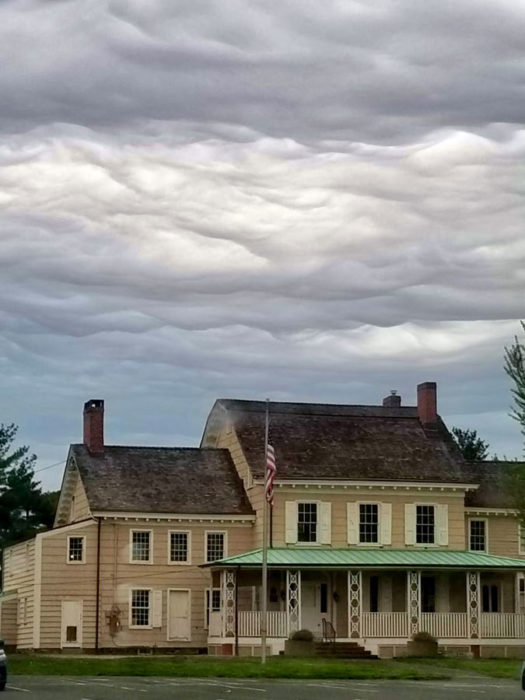 An asperitas formation over New Jersey, US,