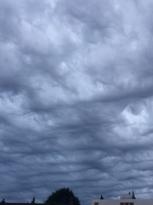 An asperitas formation over Langley, British Columbia.