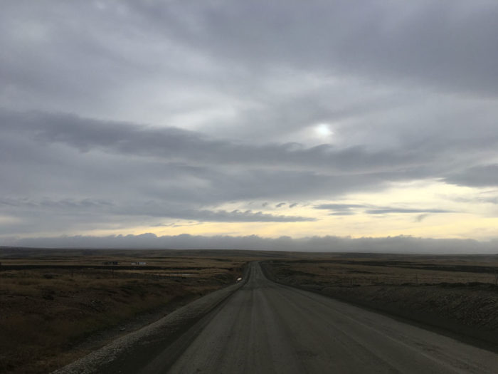 A trio of Kelvin-Helmholtz formations, spotted on the road to Stanley, Falkland Islands.