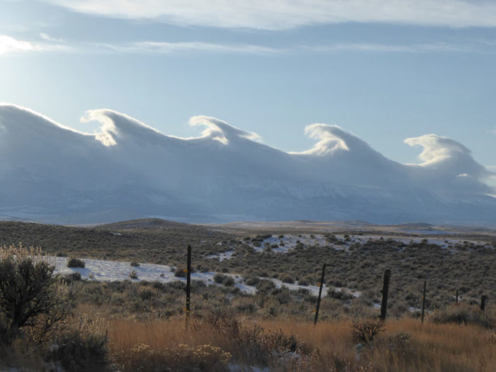 A Kelvin-Helmholtz formation over the Shields Valley, Montana, US.