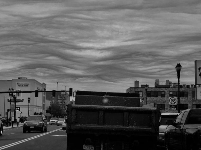 An asperitas formation over Massachusetts, US.