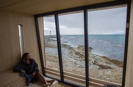 Isfjord Radio sauna, Svalbard