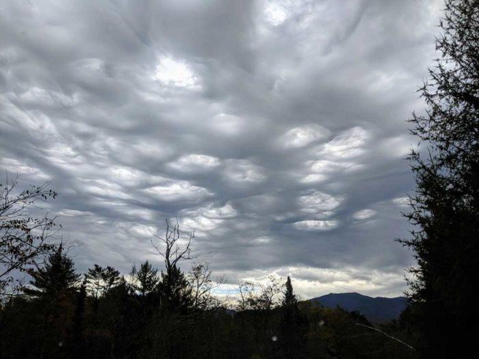 An asperitas formation over Bethlehem, New Hampshire, US.