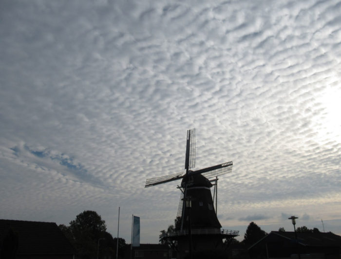 A fallstreak hole over Sleen, Netherlands.