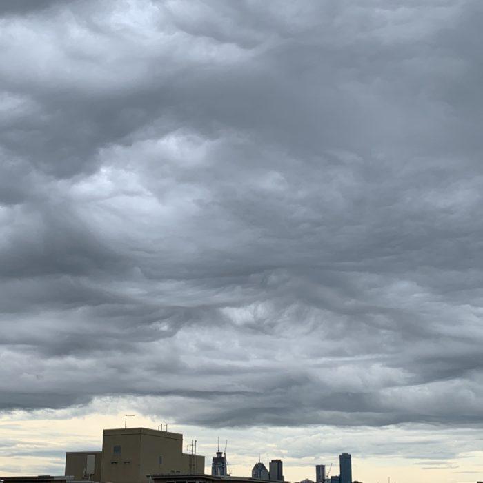 Asperitas over Port Melbourne, Australia.