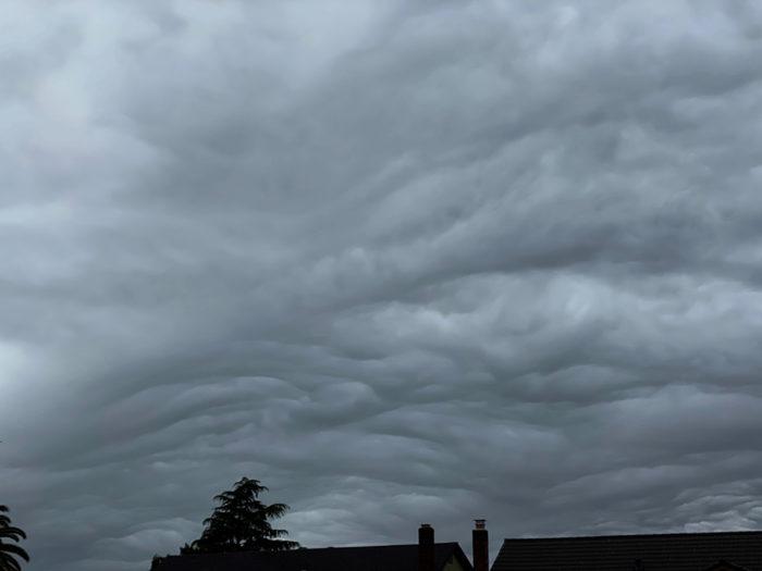 An asperitas formation over Petaluma, California, US.