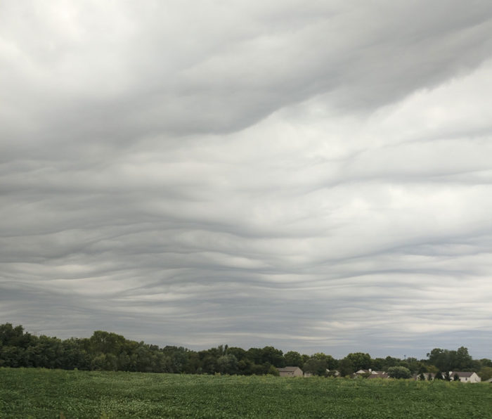An asperitas formation over Greenwood, Indiana, US.