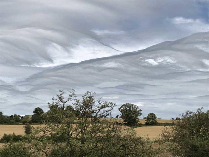 Asperitas over Iron Acton, South Gloucestershire, UK.