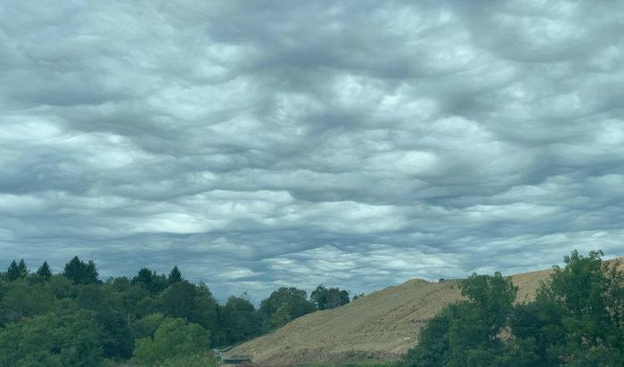An asperitas formation over Steubenville Ohio, US.