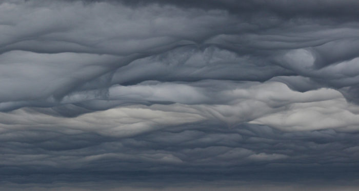 An asperitas formation over the Allier valley in Central France.