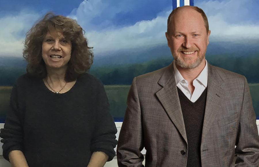 Donna Levinstone and Gavin Pretor-Pinney