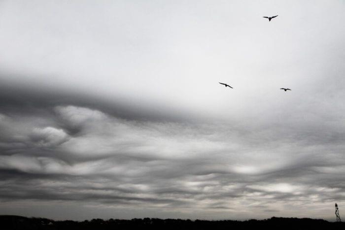 An asperitas formation over Zandvoort, Netherlands.