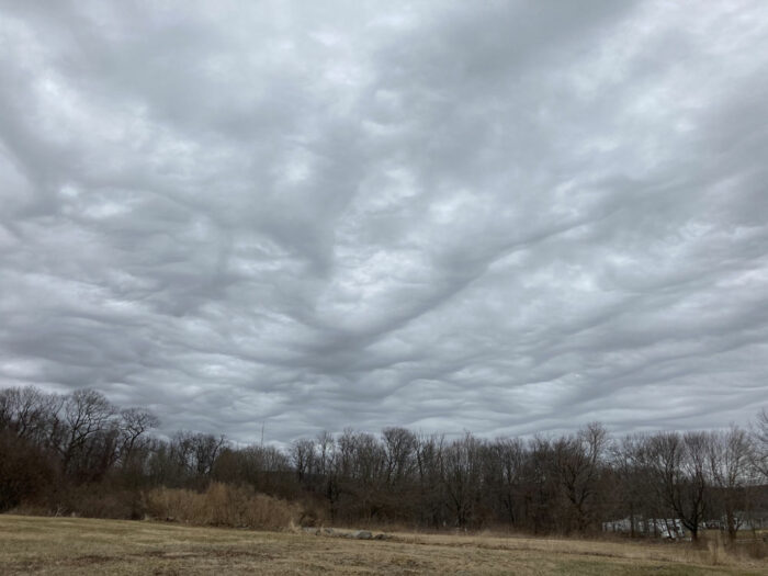A formation of asperitas over Bethany, Connecticut, US.