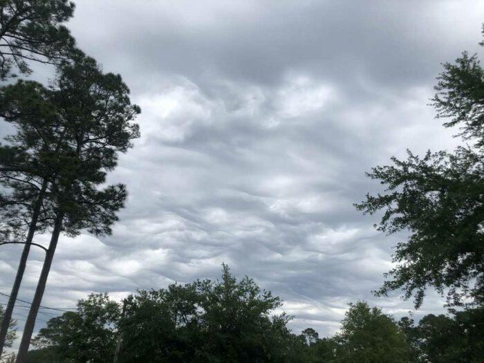 An asperitas formation over Jacksonville, Florida, US.