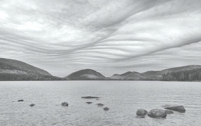 An asperitas formation over Eagle Lake in Acadia National Park, Bar Harbor, Maine, US.