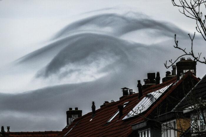 An asperitas formation raises some eyebrows over Haarlem, Netherlands.