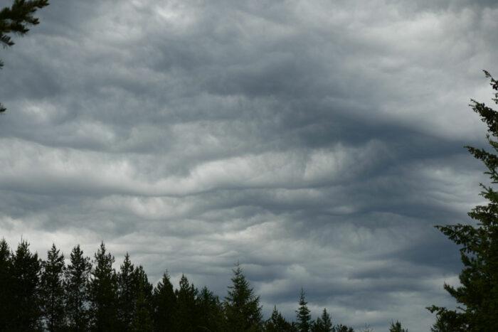 Asperitas over Bigfork, Montana, US.
